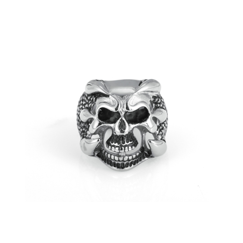 Dashing Personal Selfdefense Zinc Alloy Personality Skeleton Ring Skull Fashion Rings Multi-skeletons Safety Protector Finger Ring Men Choice Materials