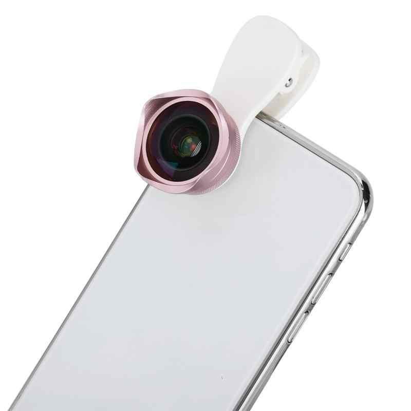 Phone Wide Angle Macro Lens Mobile Phone Zoom Camera Lens 120 Degree 4K Rose Gold
