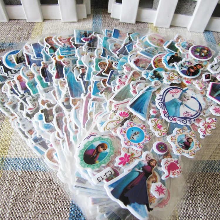 3D пышные объемные наклейки Мультяшные наклейки для морозильников DIY для детей мальчиков и девочек игрушки ПВХ съемные 6 листов/партия бесплатная доставка