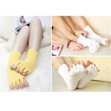 1a2e0457d582 Fashion Casual Solid ComfyToes Foot Alignment Socks Relief For Bunions  Hammer Toes Cramps Happy Feet One