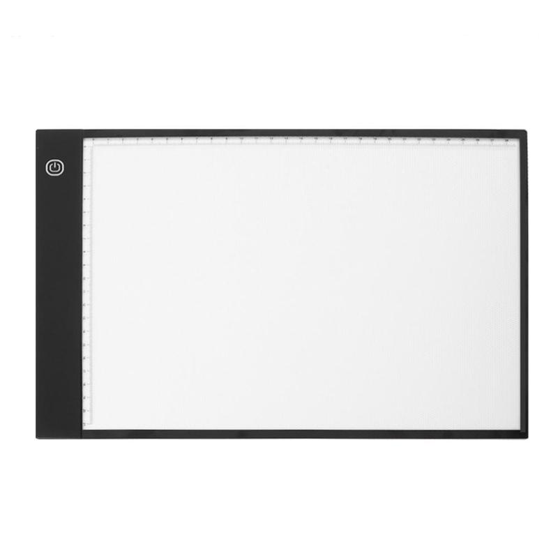 Digital A4 LED Graphic Tablet Writing Painting Drawing Tablet Tracing Panel Luminous Stencil Board Display LED Copy Pad Box