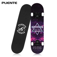 PUENTE Four wheel Double Long Board Skate Board with four wheels Skateboard 3 Colors