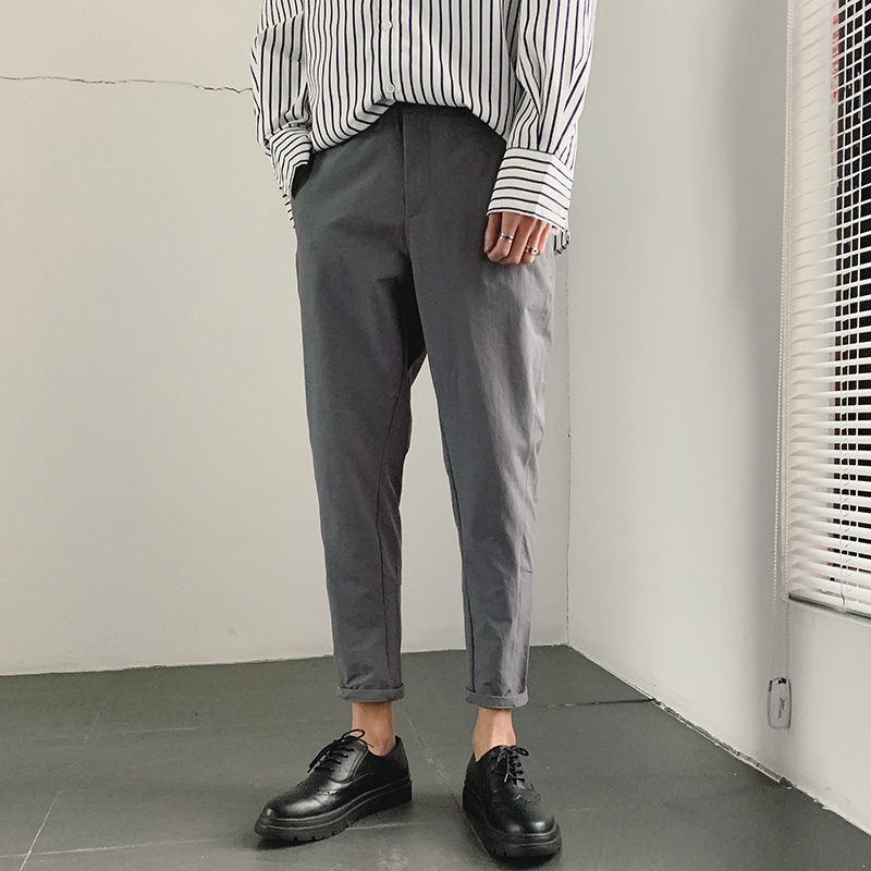2019 Spring And Summer New Korean Version Of The Chinese Style Men's Harlan Casual Sports Solid Color Dating High-quality Pants