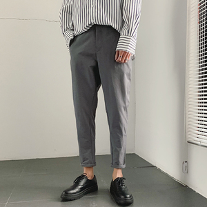 Image 1 - 2019 Spring And Summer New Korean Version Of The Chinese Style Mens Harlan Casual Sports Solid Color Dating High quality Pants