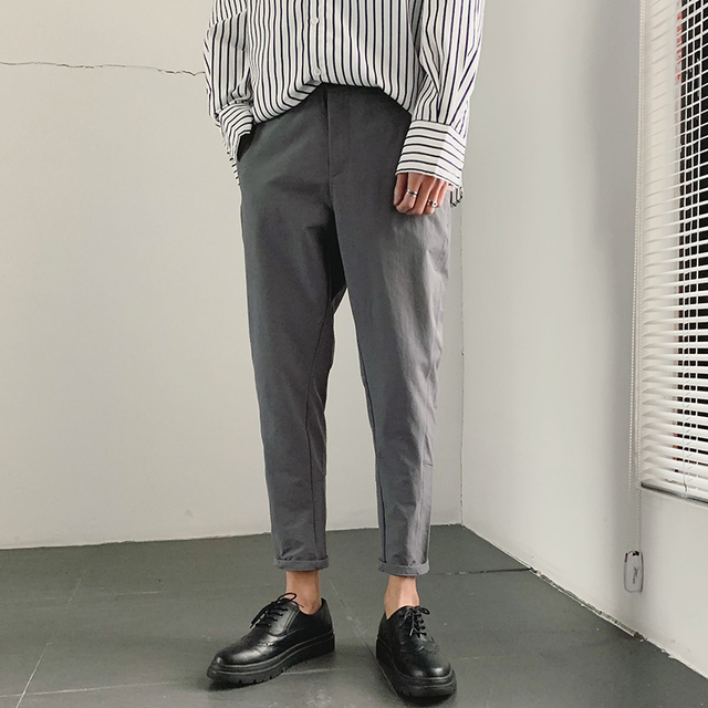 2019 Spring And Summer New Korean Version Of The Chinese Style Mens Harlan Casual Sports Solid Color Dating High quality Pants