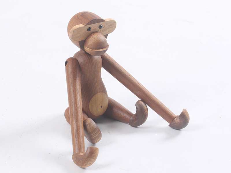 Nordic Residence Decor hanging wooden monkey arctic monkeys wood toys joints movable birthday items stable wooden diy Crafts Ornament Collectible figurines & Miniatures, Low cost Collectible figurines & Miniatures,...