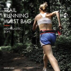 Image 3 - Aonijie bolsa para correr de nailon, bolsa de cintura transpirable, ultraligera, portátil, elástica, espera, 1 ud., botella de agua de 250ml