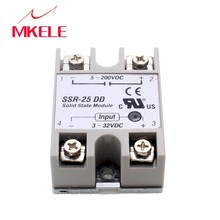 IMC hot New Plastic Metal Solid State Relay SSR DC-DC 25A 3-32VDC/5-60VDC