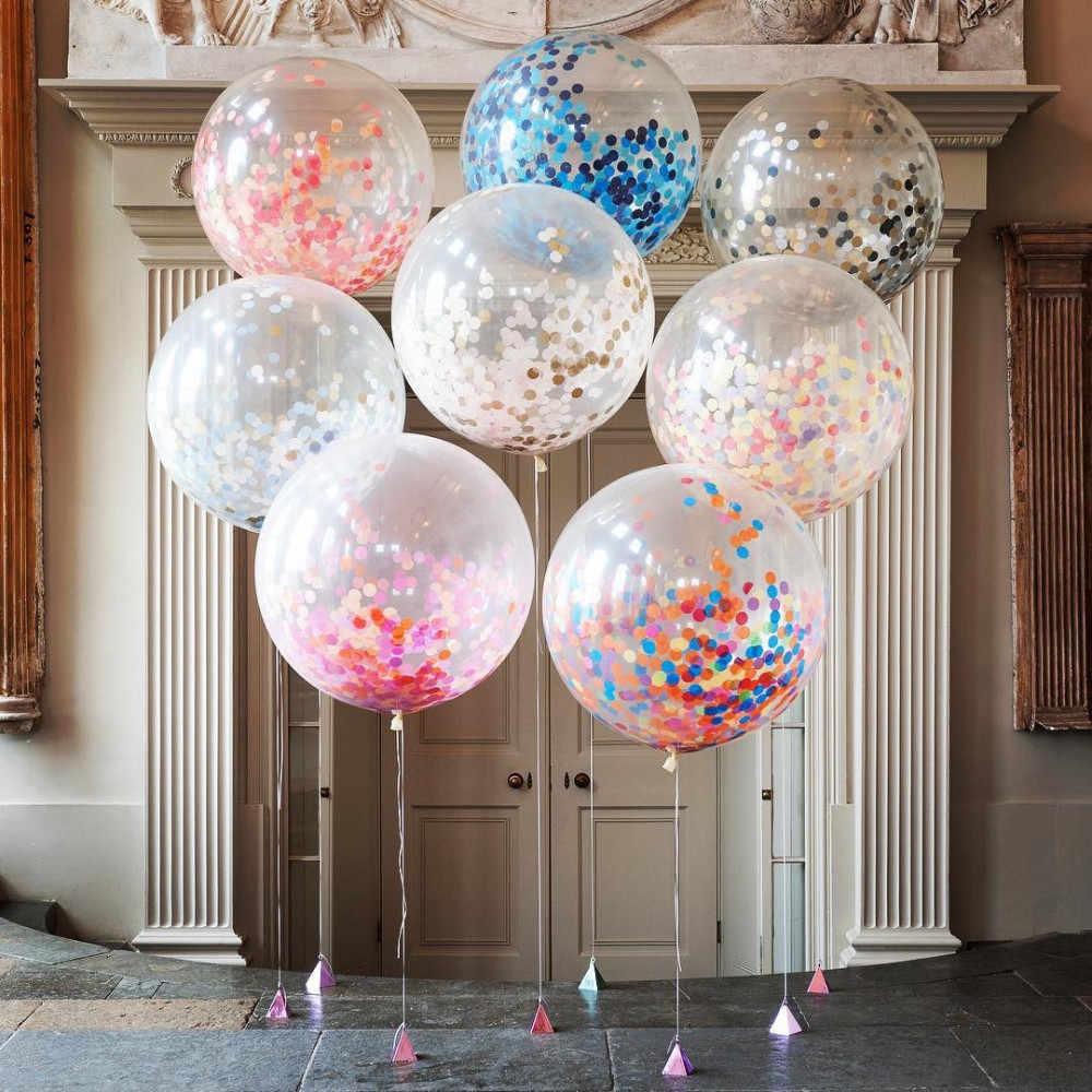 """5 шт. 12 дюймов многоцветный воздушный шар """"Конфетти"""" фольги Свадебный шар вечерние украшения утолщение груша воздушные шары украшения на день рождения"""