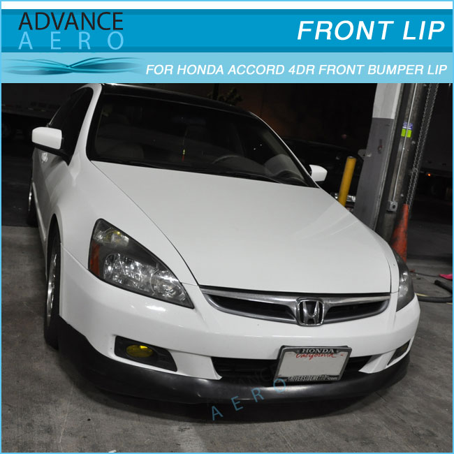 For 06 07 honda accord 4dr urethane front bumper lip spoiler hfp quick details sciox Choice Image