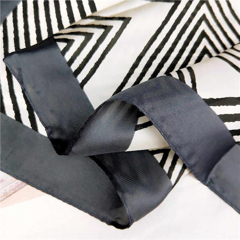 2019 линии маленький квардратный шелковый шарф женский весна и осень лето Дикий корейский стиль шарф работа украшение профессиональные шали