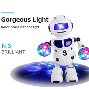 Dancing-Robot with Music Flashing Led-Light Walking-Toys Christmas New-Year Gift