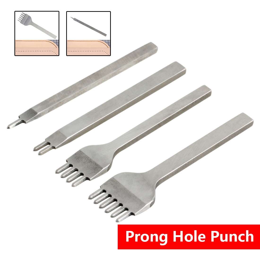 1 2 4 6 Prong Hole Punch Punch tool chisel 1pc 3mm/0.12