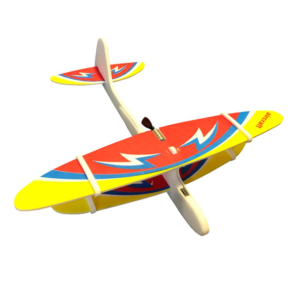 Rechargeable Manual Throwing Aircraft Airplane Electric Glider Toys For Kids Outdoor Toy Soft Collision Aircraft Random Color