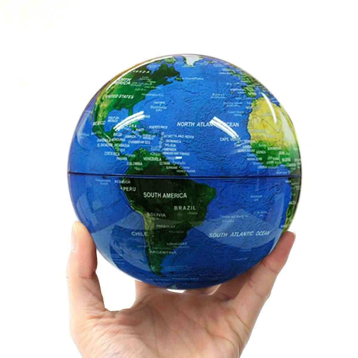 6 дюймов антигравитационная плавающая Магнитная парящая карта мира украшения дома офисные Обои для рабочего стола Дети Обучающие игрушки