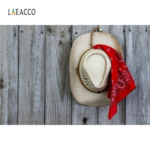 Laeacco American West Cowboy Hat Wooden Board Photography Backgrounds Customized Photographic Backdrops For Photo Studio цена