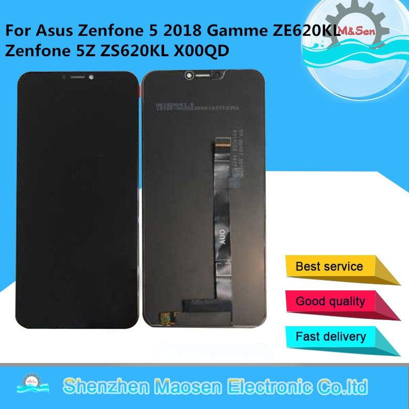 """M & Sen pour 6.2 """"Asus Zenfone 5 2018 Gamme ZE620KL écran d'affichage LCD + numériseur d'écran tactile pour Zenfone 5Z ZS620KL X00Q cadre LCD"""