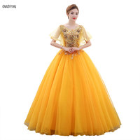 New Quinceanera Dresses 15 Party Sexy Appliques Lace Spaghetti Strap Floor Length Luxury 2019 Vestido Debutante Ball Gowns
