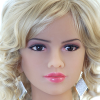 tpe Oral Sex Doll Head DIY Fits for 140cm to 176cm Life Size Love Doll with Wig and Eyes M16 Screw Thread