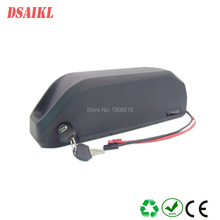 Free shipping hailong 48V 52V 10A 12Ah bottle ebike frame 500W 750W battery pack with charger
