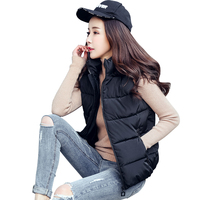 New Fashion Plus Size Winter Women Pink White Black Green Vest Hooded Jacket Warm Gilet Ladies Sleeveless Waistcoat