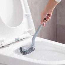 2 Pcs Plastic minimalist style Monochromatic Toilet Brush Set with Base 360 Angle Omnidirectional Bathroom Cleaning Brush Tool
