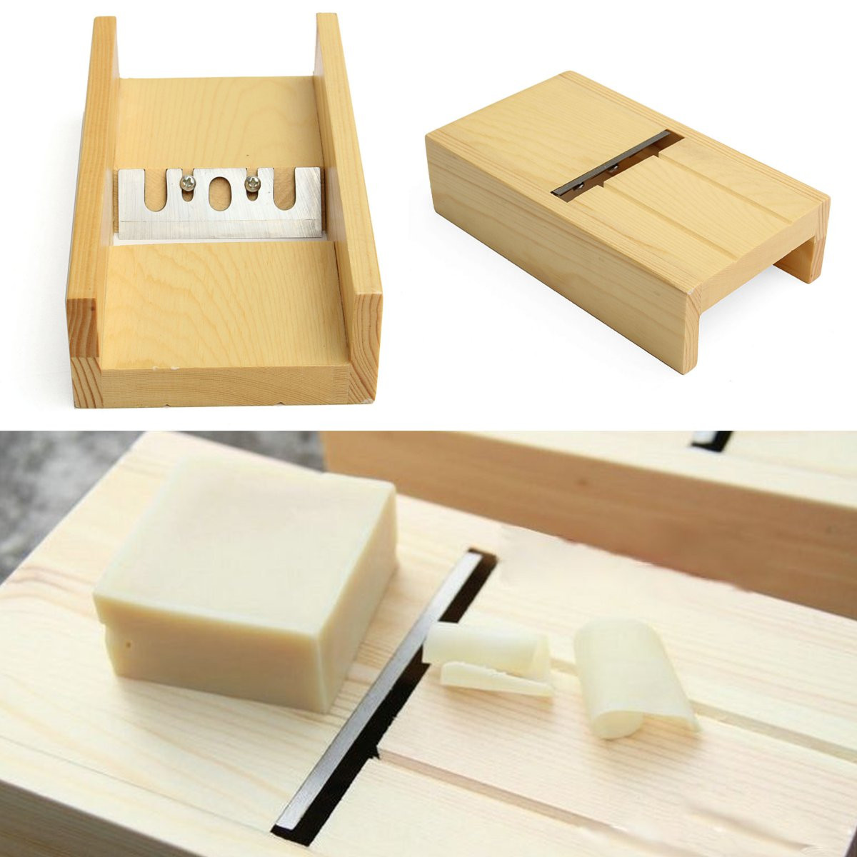 Wooden Beveler Planer Sharped Blade Handmade Soap Candle Loaf Mold Cutter Craft Making Tool Soap Kits Cutting Tools