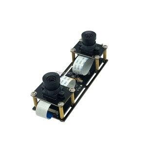 Image 4 - 1080P bez zniekształceń elastyczna synchronizacja Stereo kamera internetowa podwójny obiektyw 30FPS moduł kamery USB do 3D wideo VR wirtualna rzeczywistość
