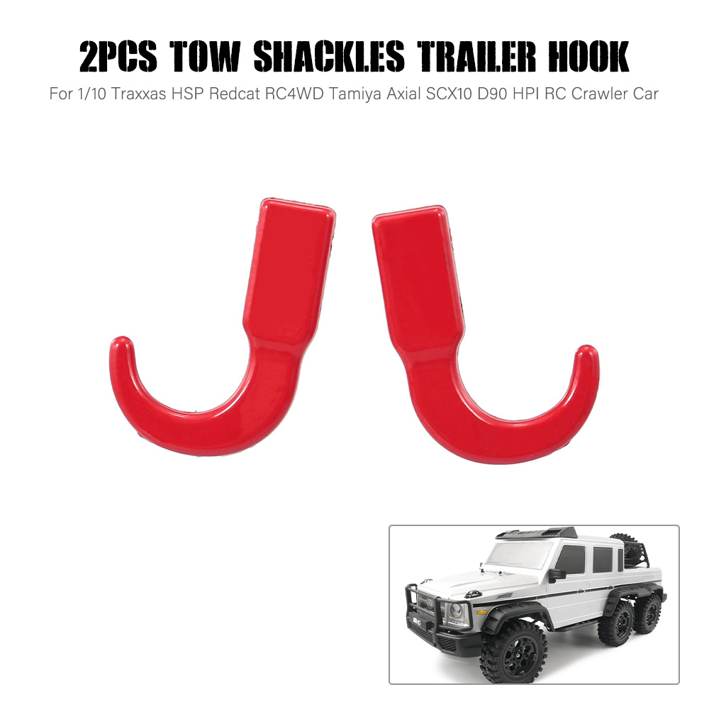 2pcs RC Car Tow Shackles Trailer Hook for 1:10 Traxxas HSP