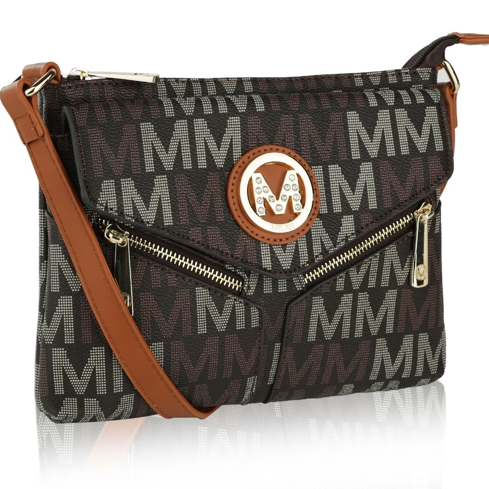 MKF Collection by Mia K Farrow Nathy Milan M Signature Cross-Body Bag NEW