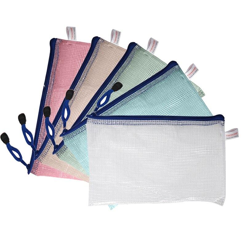 12 pcs/lot A5 papier Document pochette PVC clair remplissage sac Rondom couleur12 pcs/lot A5 papier Document pochette PVC clair remplissage sac Rondom couleur