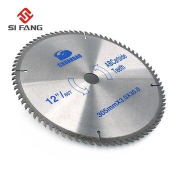 """¡Caliente! SI FANG 4 """"/6""""/7 """"/8""""/9 """"/12"""" hoja de sierra Circular de carburo 30/60/80/100/120 disco de corte de dientes para acero aluminio madera plástico"""