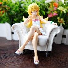Figura de acción japonesa, Anime Nisemonogatari Oshino Shinobu sofá Ver. Figura pintada en miniatura a escala 1/8, muñeco coleccionable de 13cm, regalo de Navidad