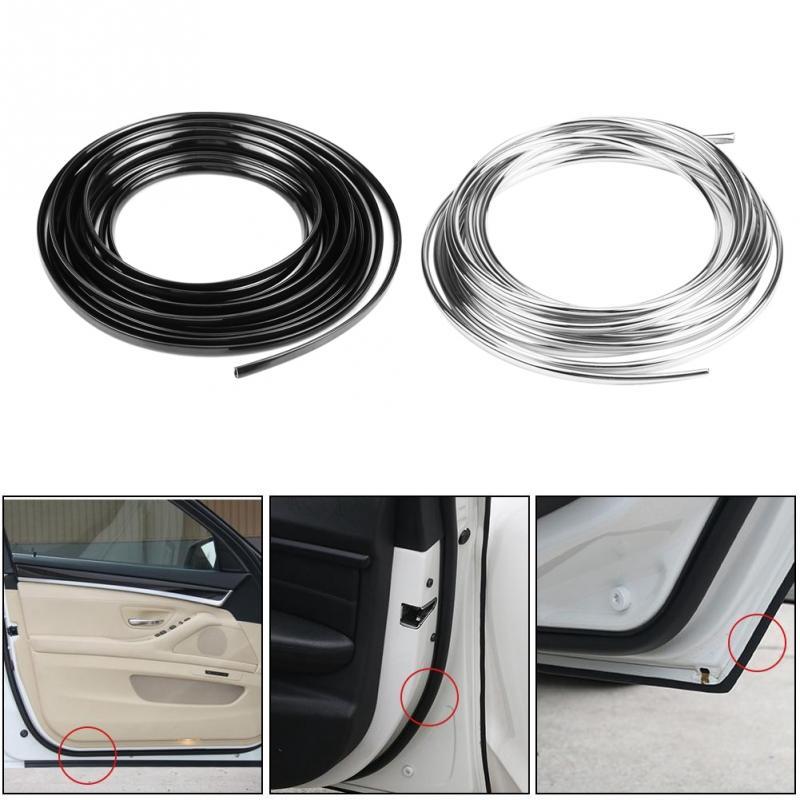 5M Chrome Moulding Trim Strip Car Door Edge Scratch Guard Protector Cover