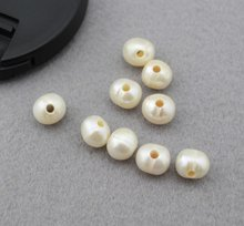 Free shipping!!! 2.5mm large hole freshwater pearls 9-10mm Freshwater Pearl Beads Diy Bracelet Necklace For Jewelry(China)