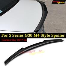 G30 Spoiler Rear Trunk Wing tail AEM4 Style Carbon Fiber For 520i 530i 530d 540i 550i lip Car 2017+