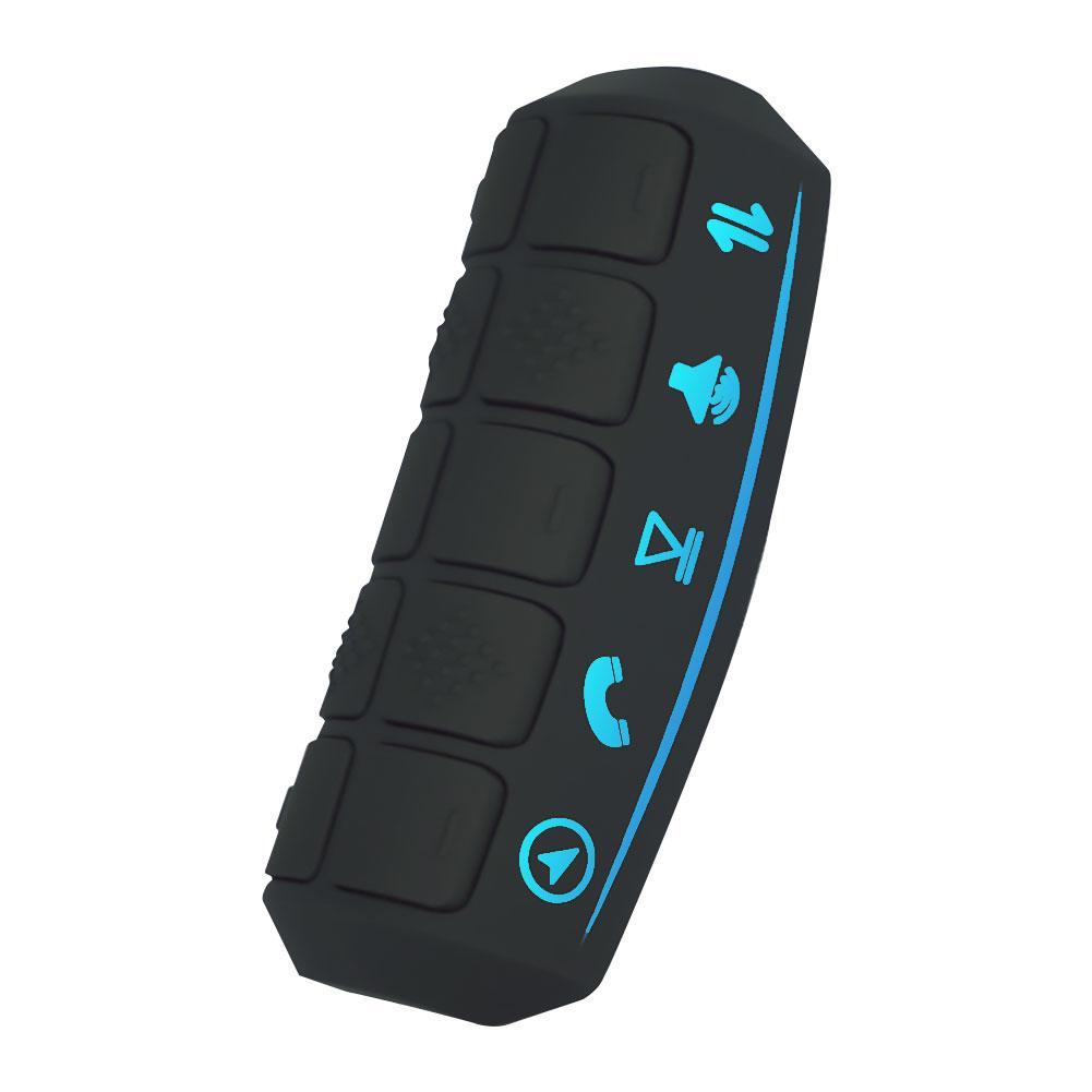 Contrôleur universel de volant de voiture Bluetooth sans fil DVD GPS Navigation volant Radio télécommande boutons noir