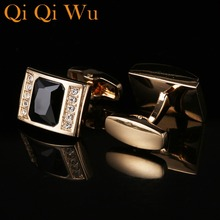 New Arrive Luxury French Mens Shirt Cufflinks Metal Men Cuff Links For Wedding Party Crystal Cufflink High Quality RL-8080