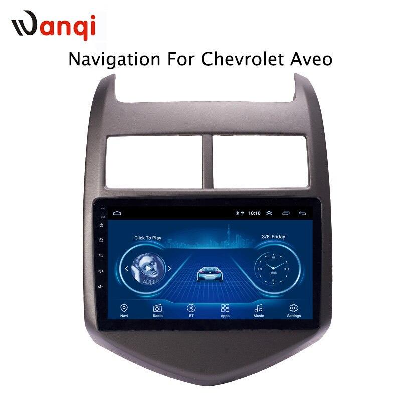 9 pouces android 8.1 voiture dvd multimédia gps système de navigation pour Chevrolet Aveo/Sonic 2011-2013 intégré Radio vidéo Bt Wifi