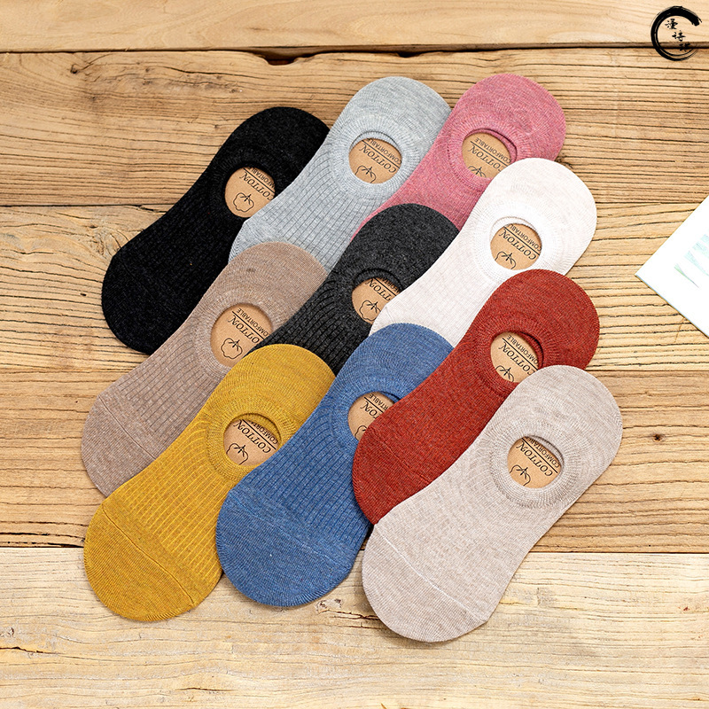 Invisible Short Woman Sweat Summer Comfortable Cotton Bamboo Girl Women's Boat Socks Ankle Low Female Invisible 1pair=2pcs Wsq02