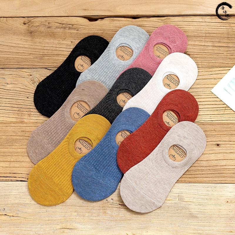 Женские невидимые короткие носки, Летние удобные хлопковые носки-Башмачки из бамбука, короткие невидимые женские носки до щиколотки, 1 пара ...