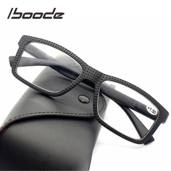 Iboode kobiety mężczyźni modne okulary do czytania rama Retro Classic okulary korekcyjne okulary kobieta Ultralight dioptrii okularów + 1 0 do 3 5 tanie i dobre opinie WOMEN Unisex Jasne Lustro Z tworzywa sztucznego 5 5cm