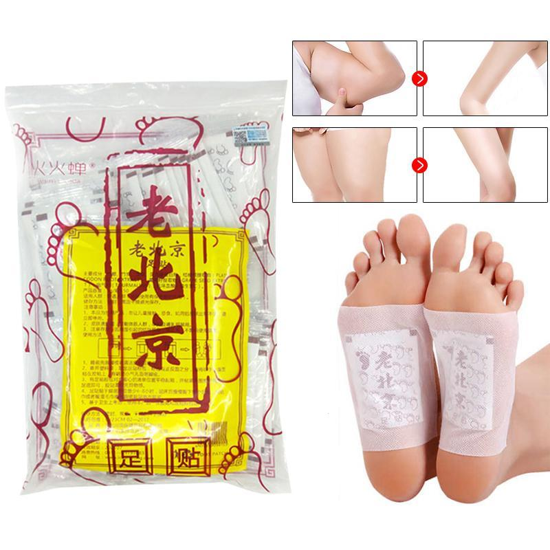 50 Pcs Old Peking Detox Foot Patches Genuine Improvement Insomnia Conditioning The Body Ameliorate Care S30