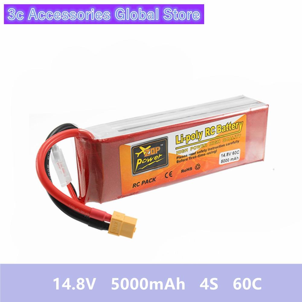 14.8 V 5000 mAh 4 S 60C Lipo แบตเตอรี่ ZOP Power ชาร์จ XT60 Plug เชื่อมต่อสำหรับ RC Quadcopter ของเล่น-ใน แบตเตอรี่แบบชาร์จได้ จาก อุปกรณ์อิเล็กทรอนิกส์ บน AliExpress - 11.11_สิบเอ็ด สิบเอ็ดวันคนโสด 1