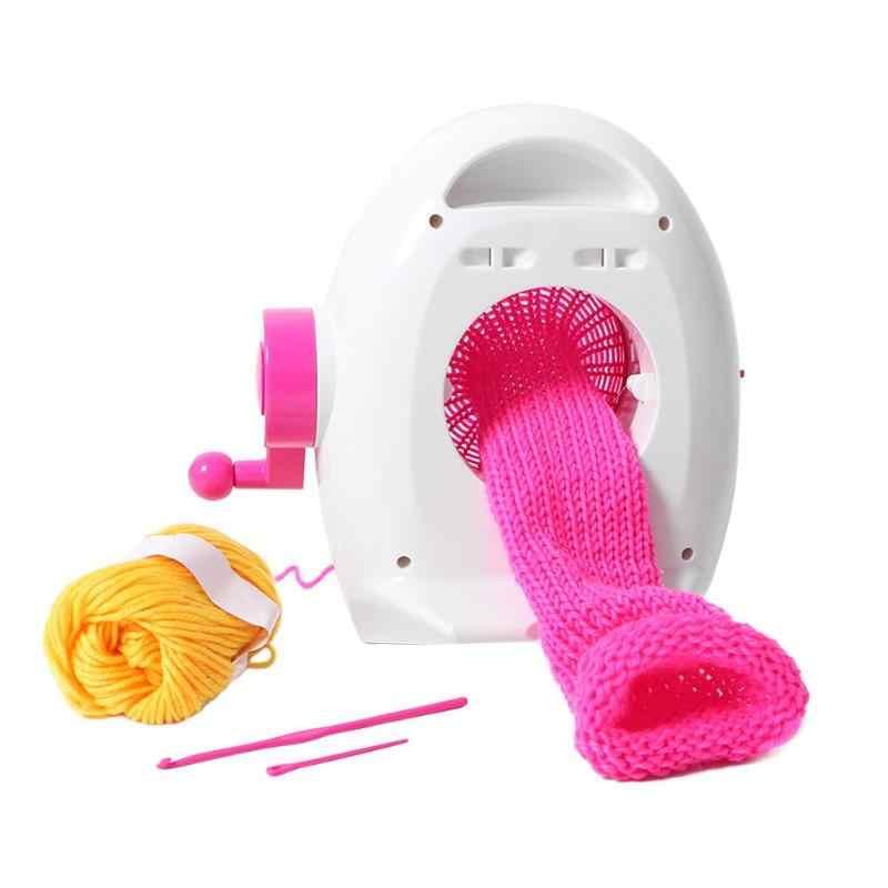 Brinquedo educativo pinguim na mão, máquina de tricô criativo para presente de natal
