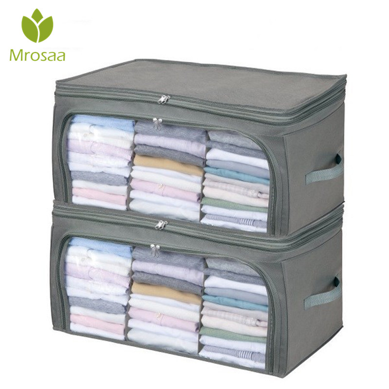 Transparent Quilt Storage Bags Clothes Quilt Storage Folding Organizer Bag Bamboo Container Travel Luggage Bag Clothing Wardrobe