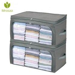 Transparente colcha sacos de armazenamento roupas colcha armazenamento dobrável organizador saco recipiente de bambu saco de bagagem de viagem vestuário guarda-roupa