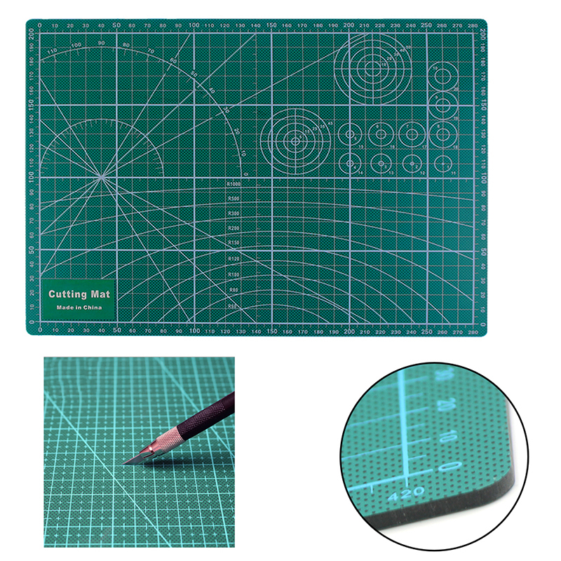 A4 Cutting Mat Craft Card Fabric Cloth Leather Paper Board Grid Lines Self Healing Pad 30*20cm