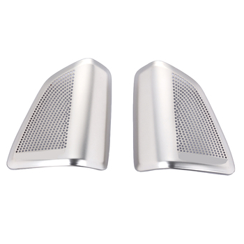 2pcs/set Stainless Steel Audio Speaker Tweeters Cover Trim For BMW X5 F15 2014 2015 2016 2017 Car Styling Accessories image