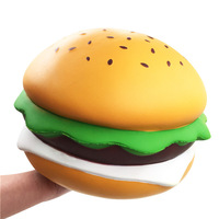 Bakeey Squishies Toys Cheese Burger Jumbo Hamburger Slow Rising Gift Decor Slow Rising Squeeze Healing Cute Fun Relief Straps